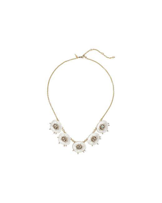 Alexis Bittar | Metallic Crystal And Stone Studded Small Liquid Silk Bib Necklace | Lyst