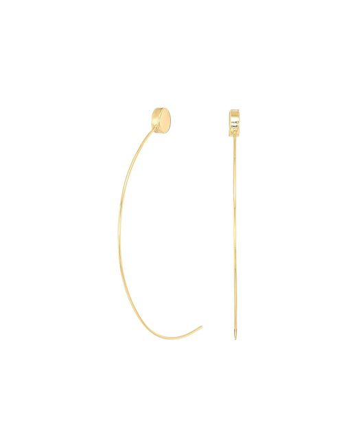 Guess - Metallic C Wire Half Hoop With Ball End Earrings - Lyst