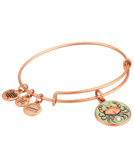 ALEX AND ANI - Metallic Color Infusion Crab Iii Bangle (rose Gold) Bracelet - Lyst