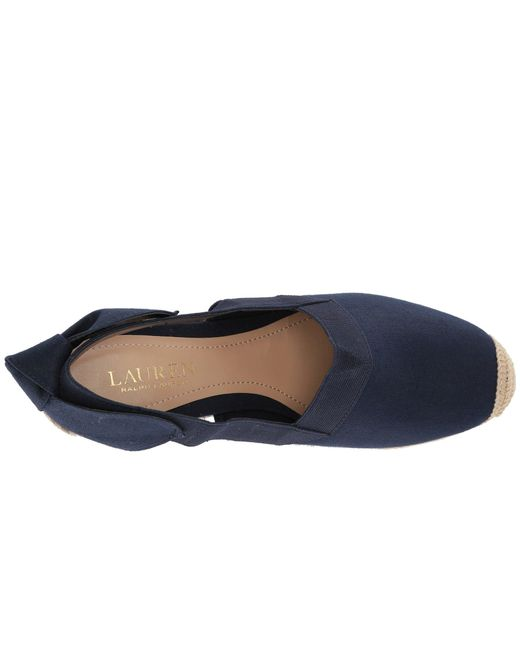 4d2d5e70142 ... Lyst Lauren by Ralph Lauren - Blue Helma (black Linen) Women s Shoes ...