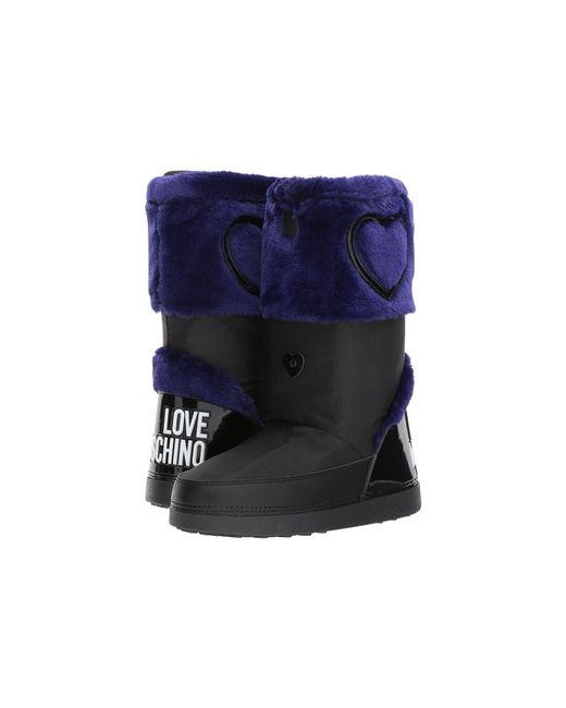 Love Moschino - Multicolor Moon Boots (blue/black) Women's Boots - Lyst