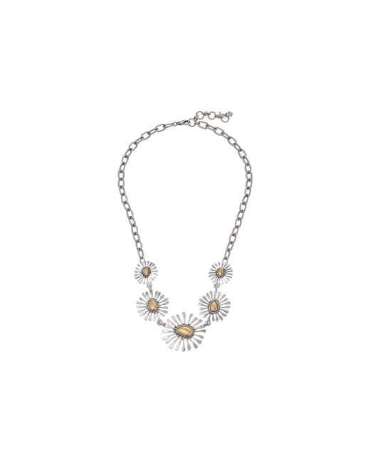 Lucky Brand | Metallic Floral Collar Necklace | Lyst