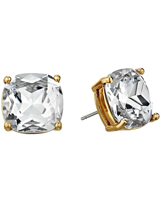Kate Spade | Metallic Small Square Studs | Lyst