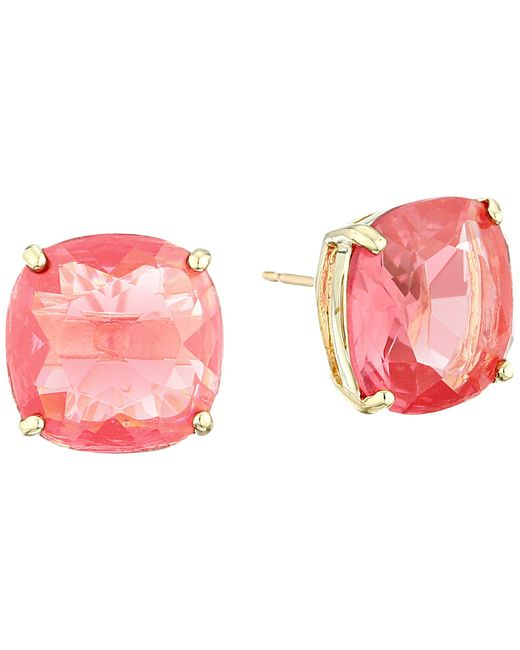 kate spade new york | Pink Small Square Studs | Lyst