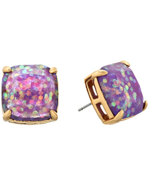 Kate Spade | Purple Small Square Studs | Lyst