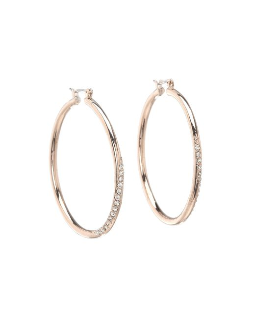 Guess | Pink Hoop With Stones | Lyst