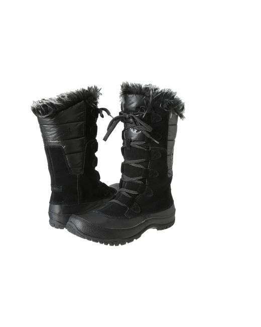 The North Face | Black 'nuptse Purna' Waterproof Primaloft Eco Insulated Winter Boot | Lyst