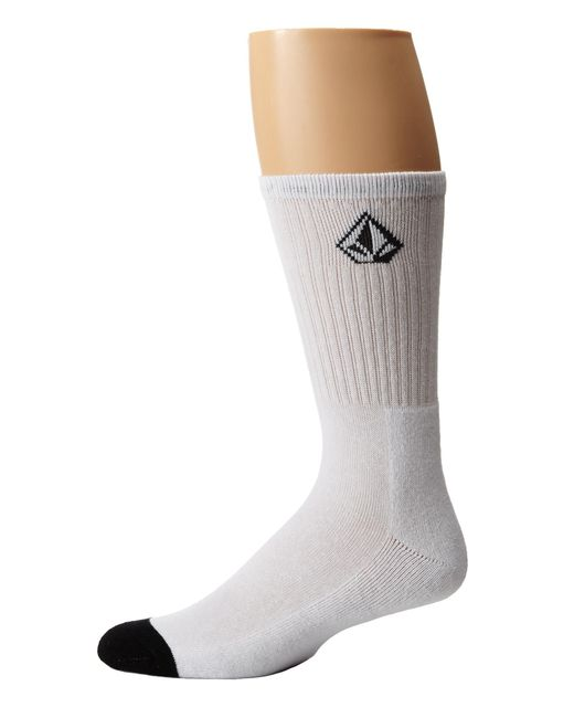 Volcom | White Full Stone Sock for Men | Lyst