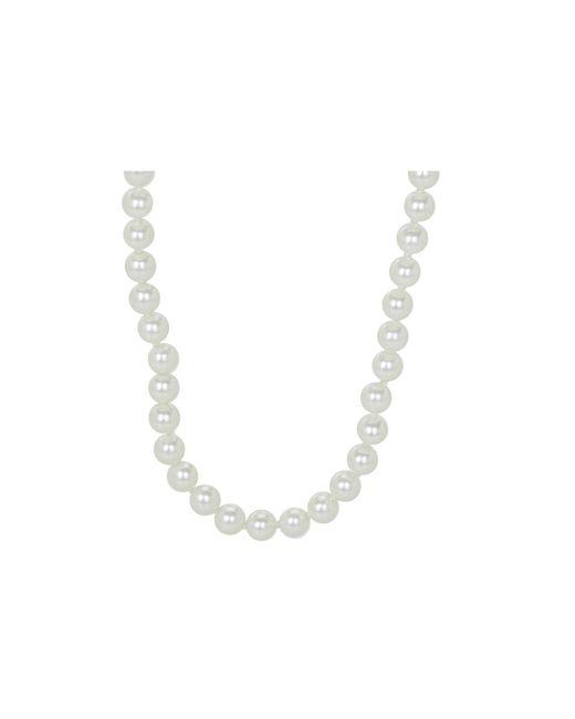 "Lauren by Ralph Lauren | White 60"" 8mm Endless Pearl Necklace | Lyst"