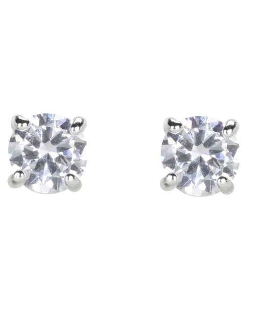 Lauren by Ralph Lauren | Metallic Cubic Zirconia Stud Medium 1.8ct | Lyst