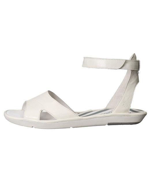 a6b3d819877 ... Lyst Fly London - White Mafi857fly (bronze Idra) Women s Sandals ...