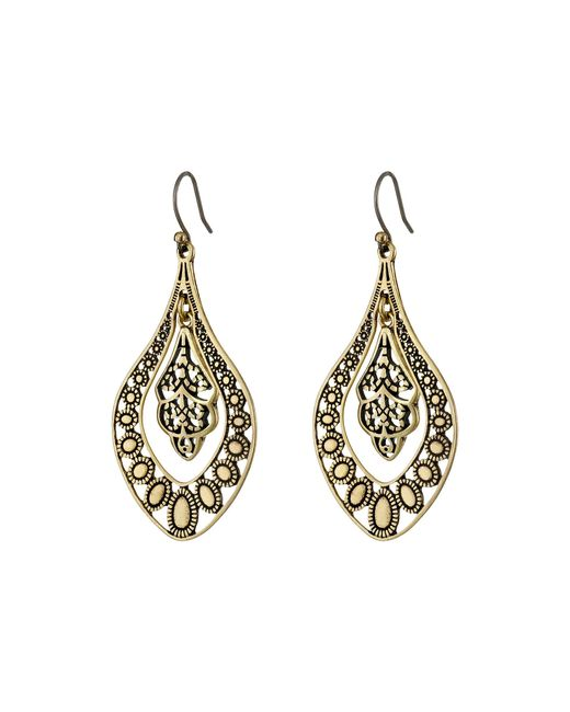 Lucky Brand | Metallic Sahara Dust Filligree Oblong Earring | Lyst