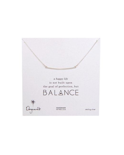 Dogeared | Metallic Balance Large Square Bar Necklace | Lyst