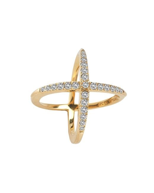 Elizabeth and James | Metallic Windrose Pave Ring | Lyst