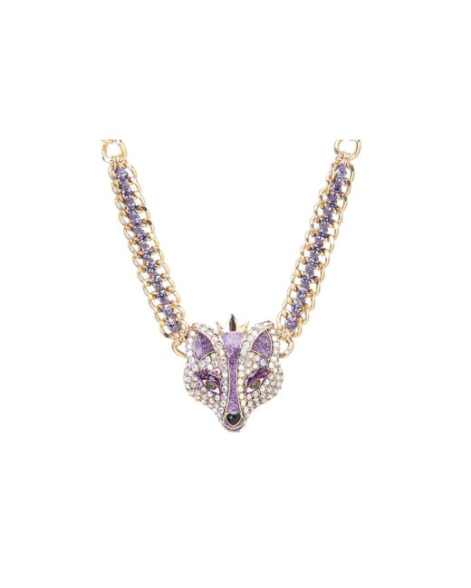 Betsey Johnson | Purple Fox Princess Frontal Necklace | Lyst