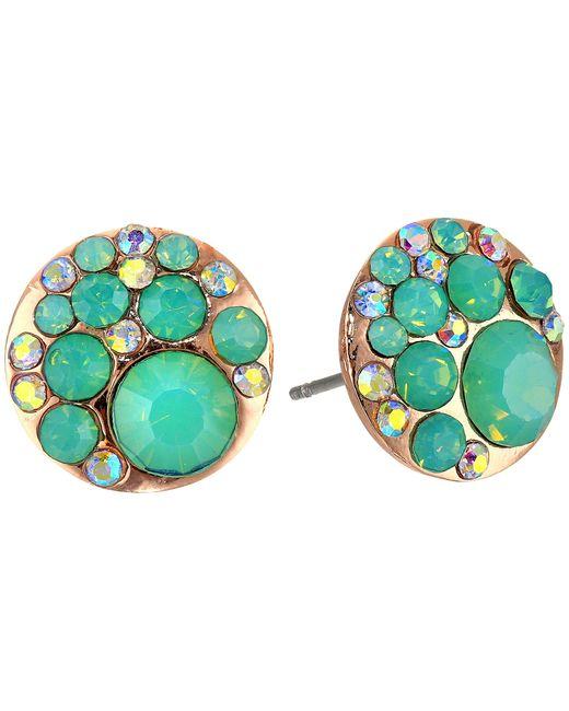 Betsey Johnson | Blue & Rose Gold Boost Crystal Stud Earrings | Lyst