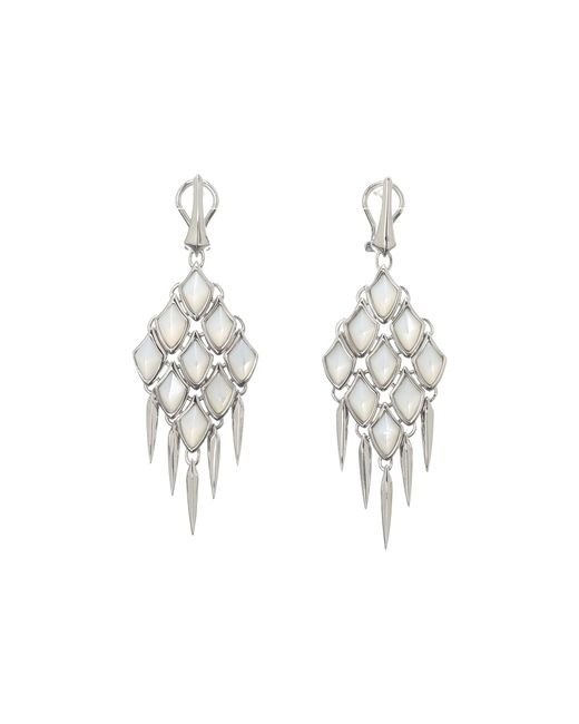 Stephen Webster | White Verne Large Earrings With Hanging Daggers | Lyst