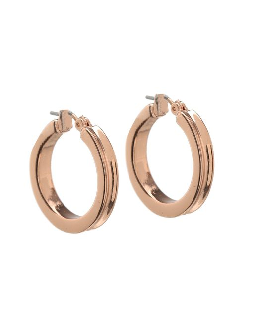 Guess   Pink Small Wide Hoop Earring   Lyst