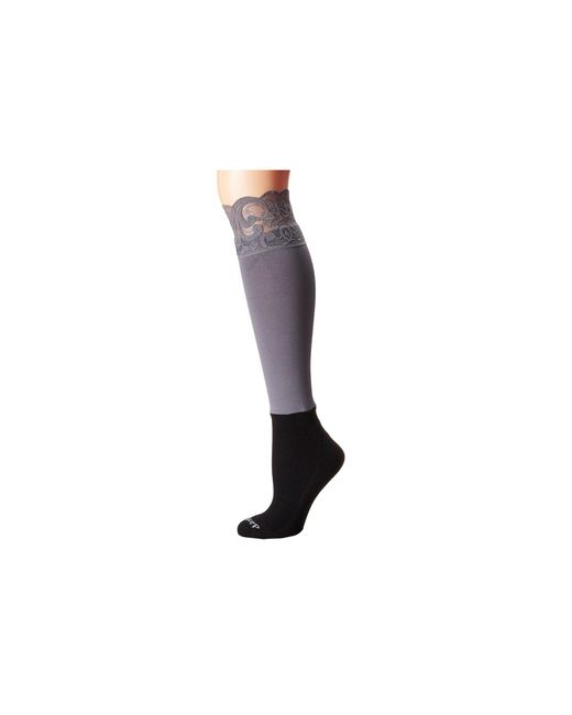 Bootights | Gray Lacie Lace Darby Knee High/ankle Sock | Lyst