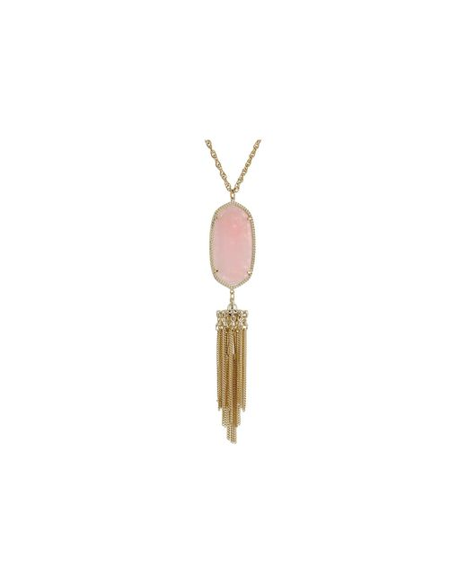 Kendra Scott   Pink Rayne Necklace   Lyst