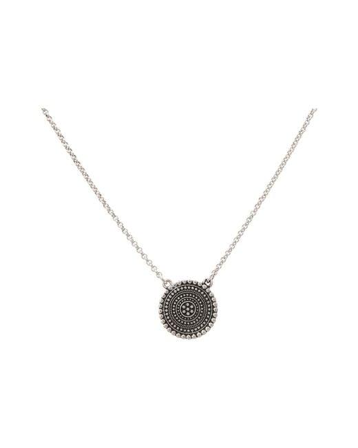 Lucky Brand | Metallic Indigo Trail Pendant Necklace | Lyst
