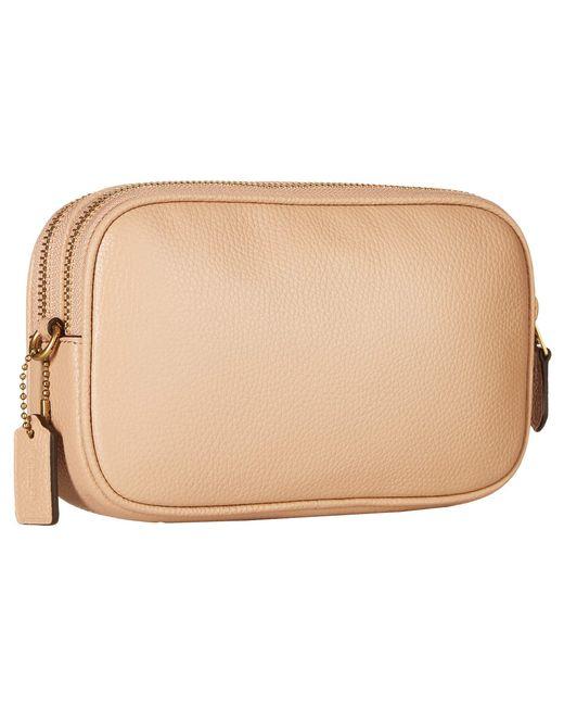 Coach Crystal Border Rivets Crossbody Clutch B4 Pink Handbags