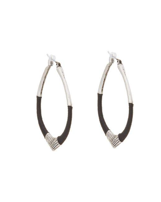 The Sak | Black String Forward Third Arabesque Hoop Earring | Lyst
