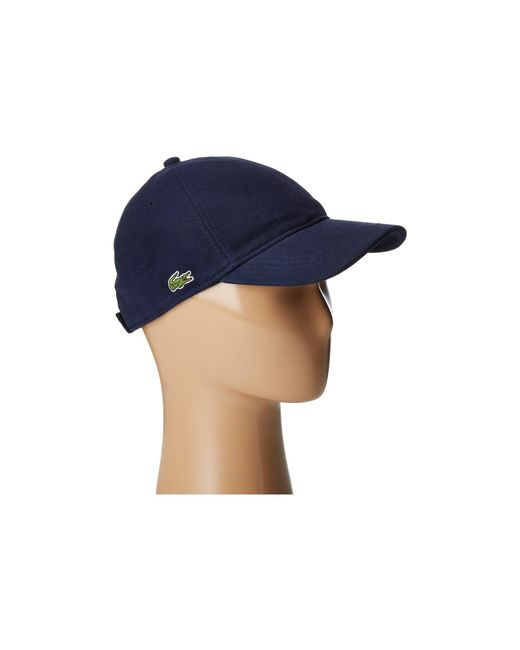Lacoste - Blue Cotton Pique Cap (silver Chine) Caps - Lyst