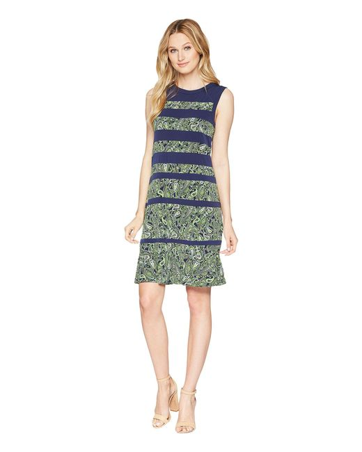 MICHAEL Michael Kors - Paisley Paneled Sleeveless Dress (true Navy/green Apple Multi) Women's Dress - Lyst