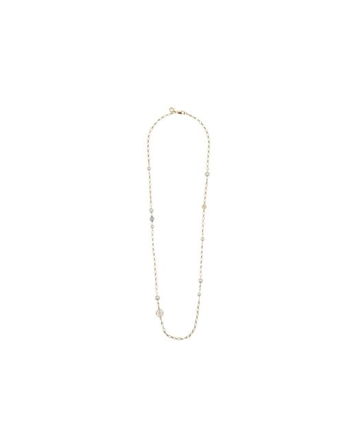 Tory Burch - Blue Crystal Pearl Chain Rosary Necklace - Lyst