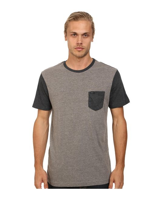 RVCA | Gray Change Up Crew for Men | Lyst