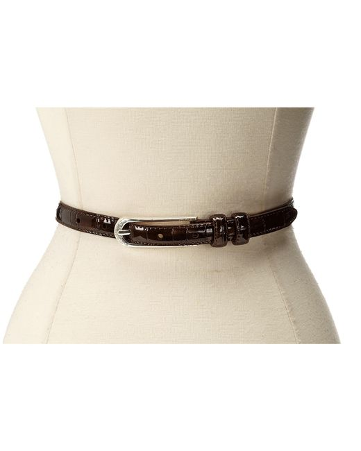 "Brighton | Brown Skinny Mini 5/8"" Belt | Lyst"