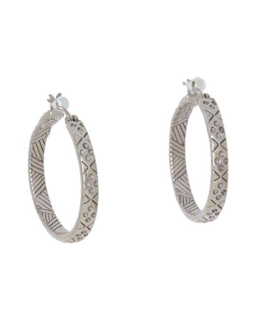 The Sak   Metallic Etched Hoop Earrings   Lyst