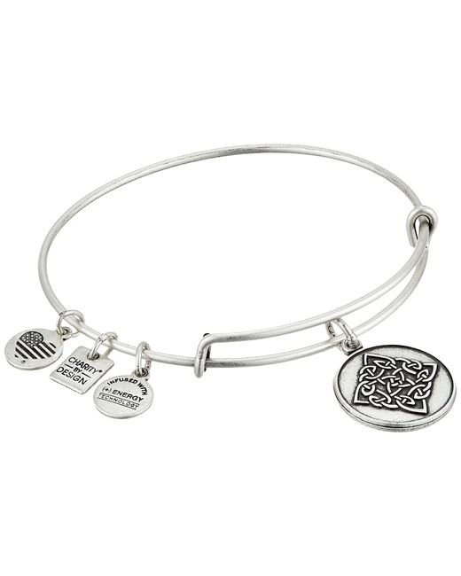 ALEX AND ANI | Metallic Celtic Knot Charm Bangle | Lyst