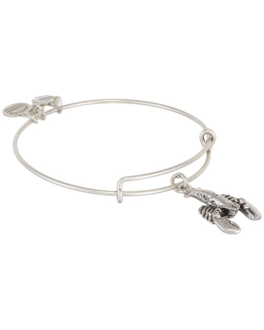 ALEX AND ANI | Metallic Lobster Charm Bangle | Lyst