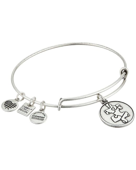 ALEX AND ANI | Metallic Piece Of The Puzzle Charm Bangle | Lyst