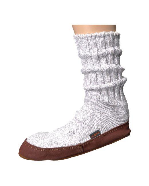Acorn - Gray Slipper Sock (maine Woods Jacquard) Shoes for Men - Lyst