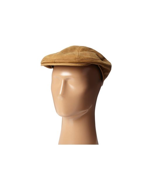 Stetson | Brown Distressed Leather Ivy Cap for Men | Lyst
