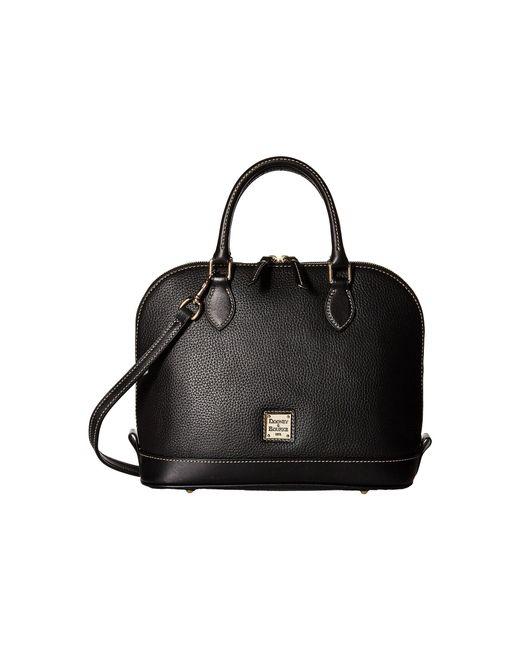 Dooney & Bourke   Black Pebble Leather New Colors Zip Zip Satchel   Lyst