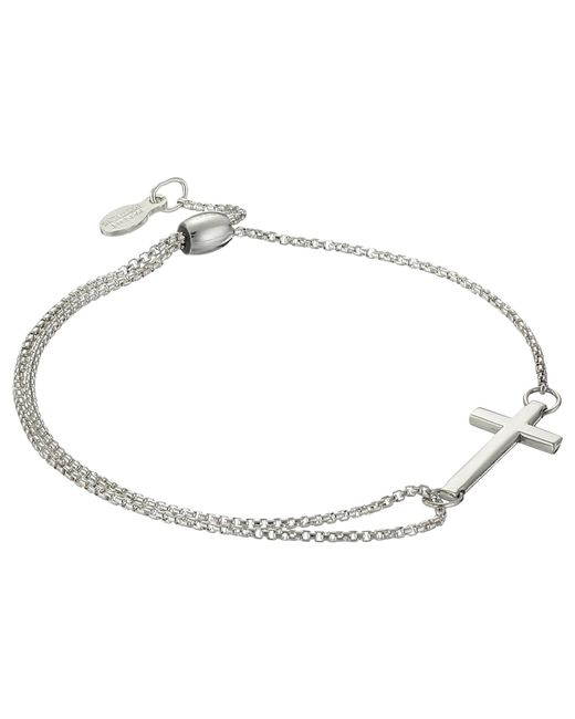 ALEX AND ANI - Metallic Precious Ii Collection Cross Adjustable Bracelet (sterling Silver Finish) Bracelet - Lyst