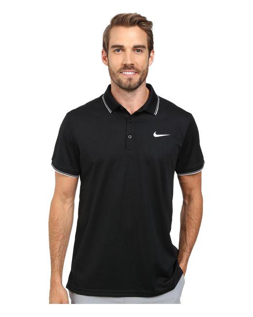 Nike | Black Court Polo for Men | Lyst