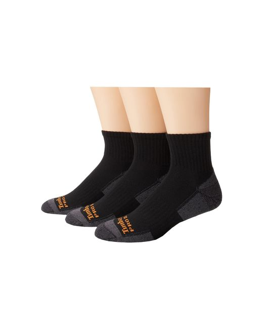 Timberland | Black Tps31411 Quarter 3-pair Pack for Men | Lyst