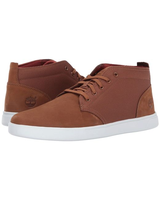 Timberland | Brown Groveton Leather And Fabric Chukka for Men | Lyst