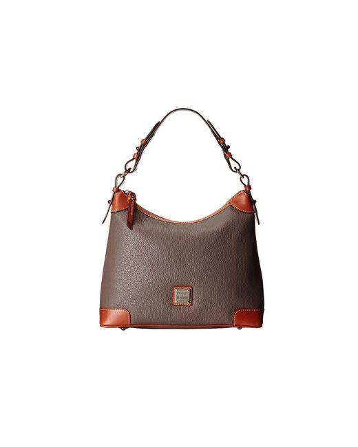 Dooney & Bourke | Gray Pebble Leather Hobo | Lyst