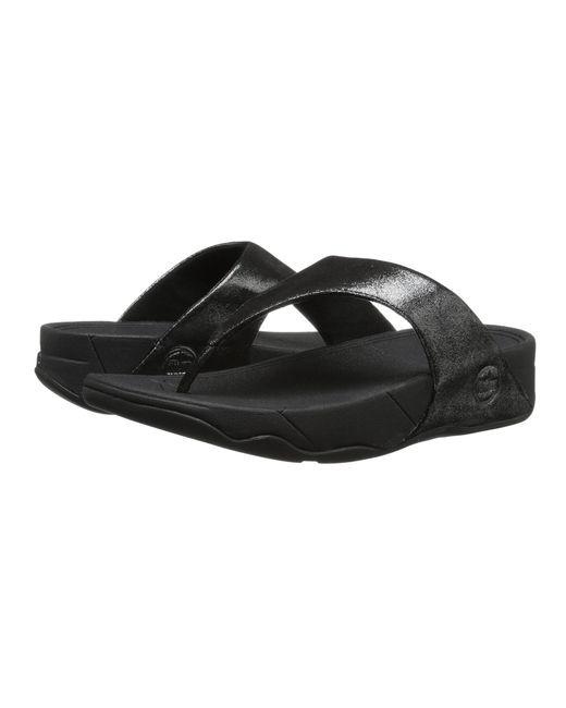 Fitflop   Black Lulu Shimmersuede   Lyst