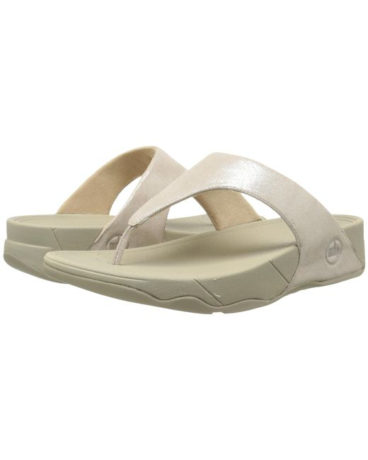 Fitflop   Natural Lulu Shimmersuede   Lyst