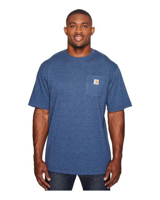 Carhartt   Blue Big & Tall Workwear Pocket S/s Tee for Men   Lyst