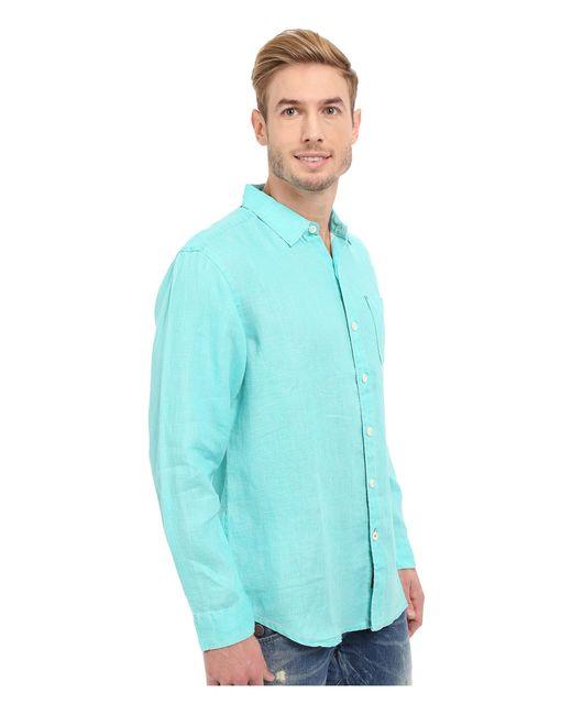 Tommy Bahama Sea Glass Breezer Long Sleeve Shirt In Blue