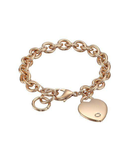 Guess   Metallic Heart Bracelet   Lyst