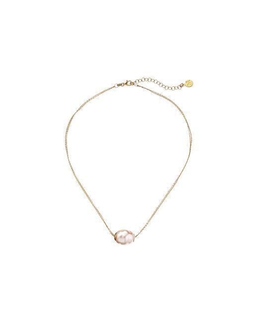 Majorica | Metallic 14mm Baroque 2 Row Chain Necklace | Lyst